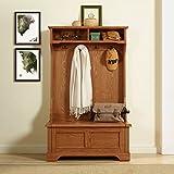 Crosley Furniture Campbell Hall Tree - Oak