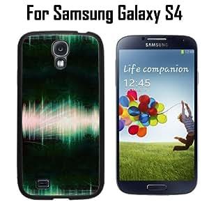 Sound Wave Recording Custom Case/ Cover/Skin *NEW* Case for Samsung Galaxy S4 - Black - Rubber Case (Ships from CA) Custom Protective Case , Design Case-ATT Verizon T-mobile Sprint ,Friendly Packaging - Slim Case