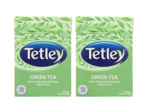 Tetley Natural Green Tea - 72 Tea Bags/box - Pack of 2 Boxes