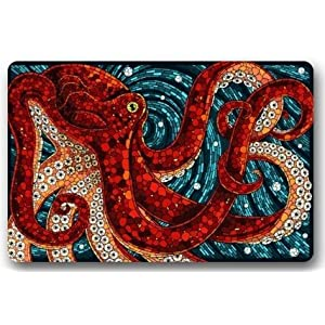 "Octopus in the oceans Large Doormat Neoprene Backing Non Slip Outdoor Indoor Bathroom Kitchen Decor Rug Mat Welcome Doormat (30""x18"",45cmx75cm)"