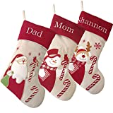 WEWILL Personalized Christmas Stockings Home Decoration Gifts for Family Members, Set of 3pcs (Color 3)