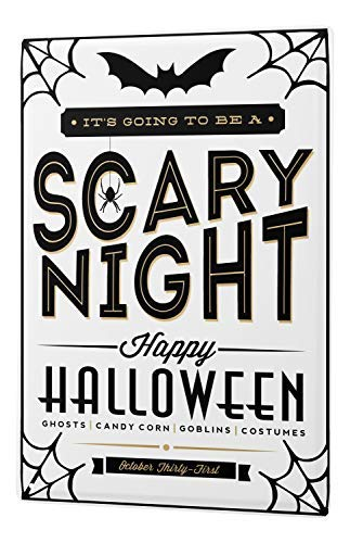 Onepicebest Tin Sign Nostalgic Halloween Scary Night 12