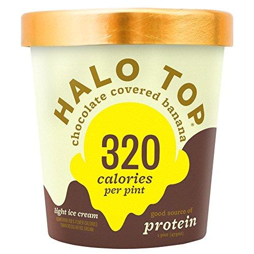 Bananas Foster Ice Cream - Halo Top, Chocolate Covered Banana Ice Cream, Pint (8 Count)