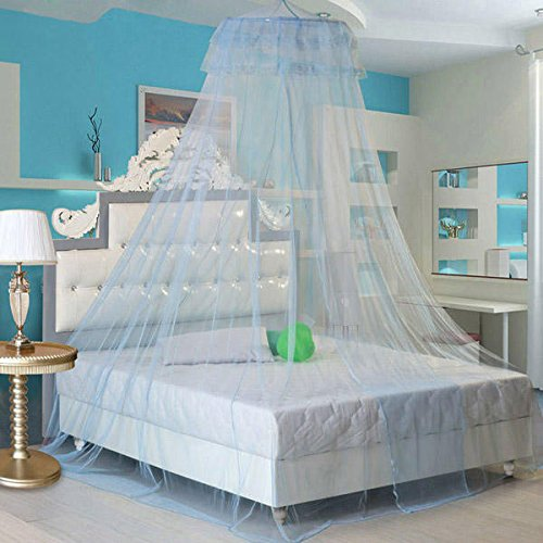 Bonk Earnings - Elegant Lace Hanging Bedding Mosquito Net Dome Princess Bed Canopy Netting - Hump Profit Seam Web Sack Intercourse Take-Home Eff Income Love Laid Reticulation - 1PCs by Unknown (Image #3)