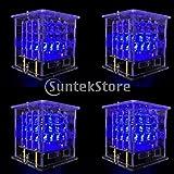 MonkeyJack Keyestudio 4*4*4 RGB LED Cube Light Kit w/ 8*8 LED Driver Board for Arduino