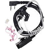 FANVERIM 3' 2-Wire Coil Earbud Audio Mic Surveillance Kit Compatible For Kenwood Kpg82D, Kpg87D Wouxun Qansheng Puxing baofeng UV5R Radio