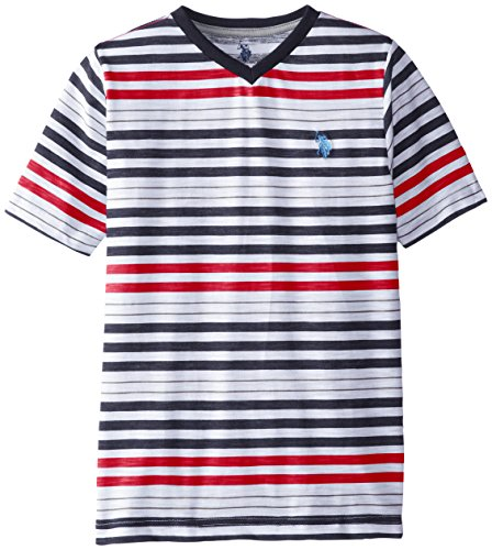 us-polo-assn-big-boys-slub-v-neck-striped-t-shirt-engine-red-14-16
