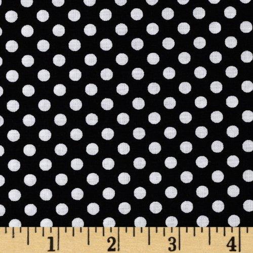 Santee Print Works FO-246 Happy Halloween Dotties Black/White Fabric by The Yard
