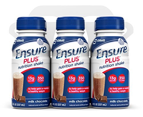 Ensure Plus Nutrition Shake, Milk Chocolate, 8-Ounce Bottle (Pack of 48) by Ensure
