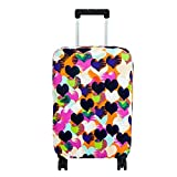 Fvstar Washable Printed Travel Luggage Cover Suitcase Trolley Case (L, Loving Heart)