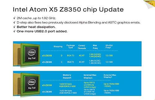 Beelink BT3Pro II Mini PC Computer Windows 10 4GB Ram 64GB eMMC Intel Atom x5-Z8350 Multi Media Desktop-PC HDMI VGA Dual Display, Full 4K HD H.265 / 1000Mbps LAN / 2.4G+5.8G Dual WiFi/VESA Mount