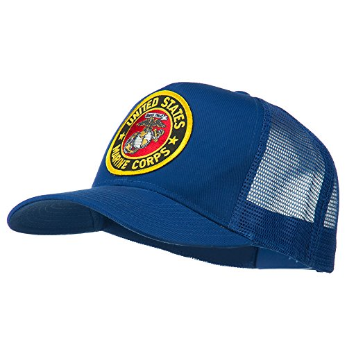 E4hats Round US Marine Corps Patched Mesh Cap - Royal OSFM