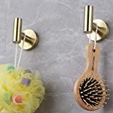 GERZWY Bathroom Brushed Gold Coat Hook SUS 304