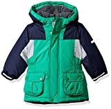 Osh Kosh Baby Boys Awesome Heavyweight Blocked Jacket Coat, Green/Blue, 18M