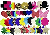 Ypser Multi Design Nipple Cover Satin Pasties Disposable Self Adhesive Breast Petals(43pairs Mixed Style Full)