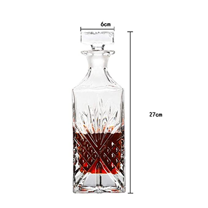 Decantador De Whisky De Vidrio Con Geometría Sellada - Ideal ...