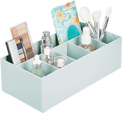 moderner Kosmetik Organizer mit 5 F/ächern Aufbewahrungsbox aus BPA-freiem Kunststoff f/ür Make-up hellgrau mDesign Schminkaufbewahrung f/ür Wasch- oder Schminktische