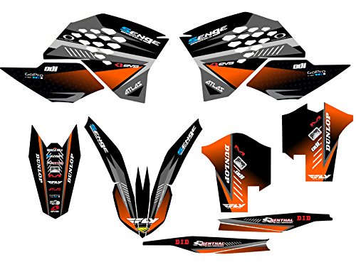 Senge Graphics 2008-2011 KTM EXC, Surge Black Graphics Kit Senge Graphics Inc.