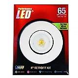 (Case of 4) Feit Electric LEDR4ADJ/830 65 Watt Replacement Soft White 4 Inch Dimmable Adjustable Tilting Head Design Retrofit Kit