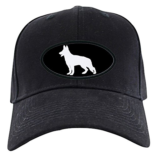CafePress - White German Shepherd - Baseball Hat, Novelty Black Cap