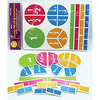 Ashley Productions ASH40013 Foam Manipulatives, Fraction Circles, Set of 20: Industrial & Scientific