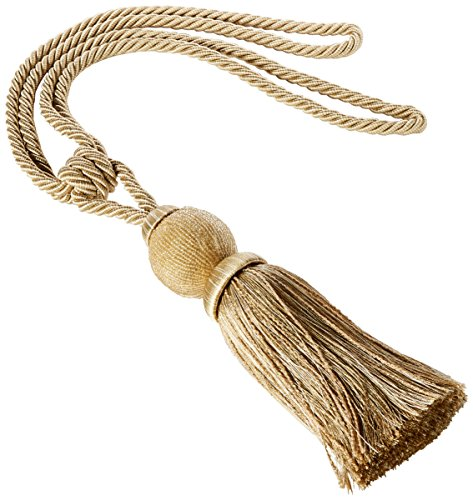 (India House 76149 Tieback Dholak Tassel, 9-Inch, Beige Mix)