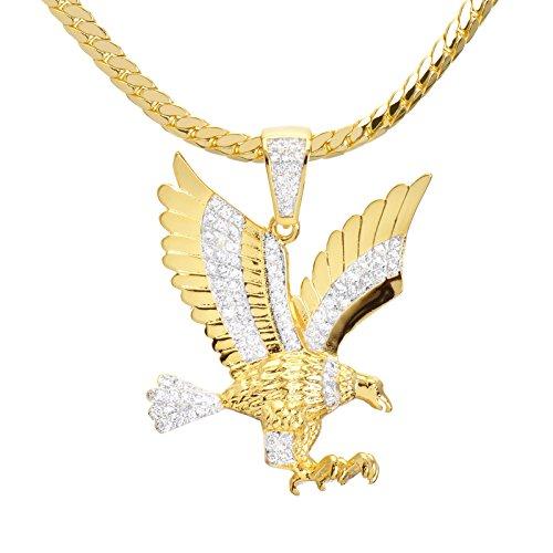 Men's 14kt Gold Plated Mini Eagle Pendant 24