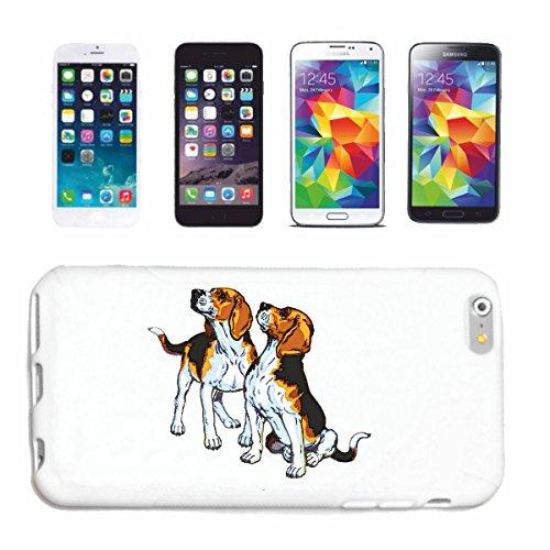 """cas de téléphone iPhone 7+ Plus """"ELEVAGE BEAGLE DOG HOUSE CHIENS KENNEL ÉLEVEURS PUPPY FORMATION CARE"""" Hard Case Cover Téléphone Covers Smart Cover pour Apple iPhone en blanc"""