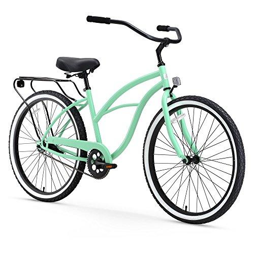 "sixthreezero Around The Block Women's 26-Inch Single Speed Cruiser Bike, Mint Green, 17"" / One Size"