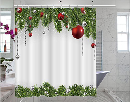 Christmas shower curtain Christmas print pattern...