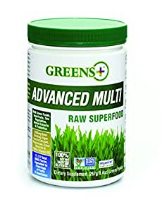 Greens Plus Advanced Multi Raw Super Food with Bone Building Minerals | Healthy Digestive & Immune System | Dietary Supplement Greens Powder - 9.4 oz