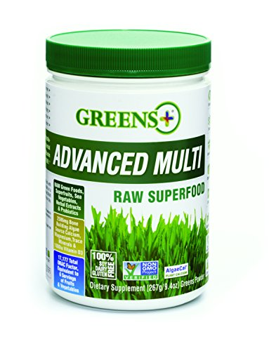 Greens Plus Advanced Multi Raw Super Food with Bone Building Minerals | Healthy Digestive & Immune System | Dietary Supplement Greens Powder - 9.4 Oz Digestive Greens