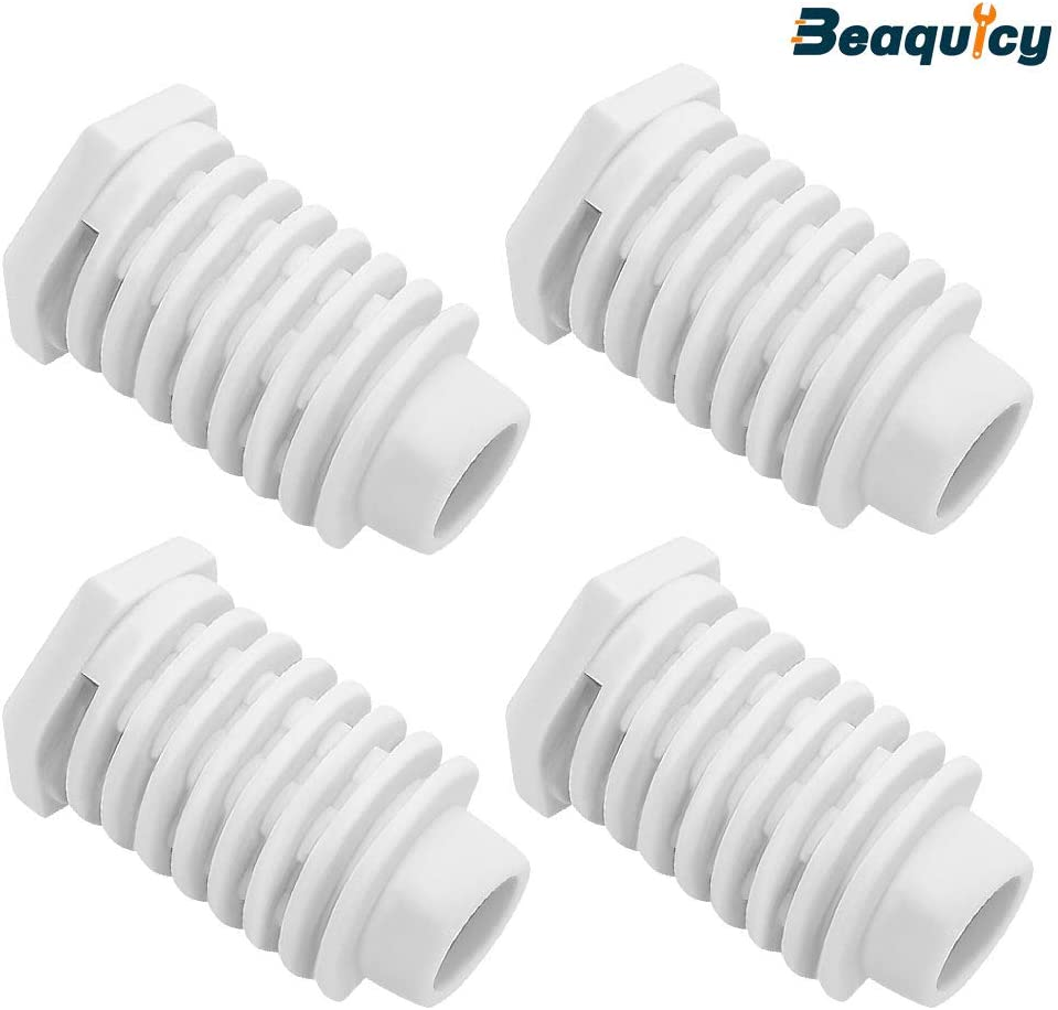 49621 AP4295805 Dryer Leveling Leg Foot Feet by Beaquicy - Replacement For Whirlpool Kenmore Dryer - Pack of 4