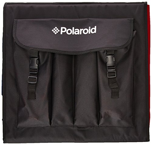 Polaroid Pro Table Top Photo Studio Kit with 2 LED Lights, 2 Light Stands, 1 Tripod, 4 Color Backdrops, 3 Diffuser Screens, 1 Carry Bag by Polaroid (Image #1)