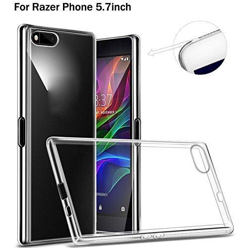 Razer Coque de téléphone, [Fusion] clair Dos en gel TPU Coque [Drop protection/technologie d'absorption des chocs] pour Razer téléphone Coque DN-TECHNOLOGY®