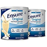 Ensure Original Nutrition Powder with 9 grams of protein, Meal Replacement, Vanilla, 14 oz, 2 count