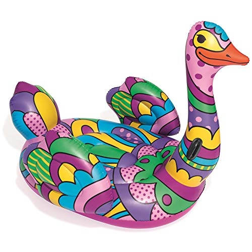 XWWS Ostrich Inflatable Floating Row - Water Ride-On Toy PVC Thickening Floating Plate, Double Handle Design, Children's Adult Pool Party Toy (190166 cm)