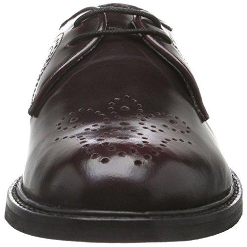 Hudson London Magee Hi Shine, Zapatos de Cordones Brogue para Mujer Burdeos