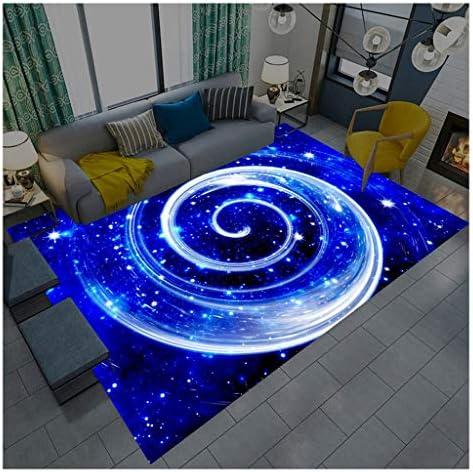 Yxx max -Carpet Starry Pattern Carpet Living Room Non-Slip Area Rug Child Room Decoration Bedroom Bedside Floor Mat Doormat Washable Living Room Rug (Color : A Size : 120160cm)