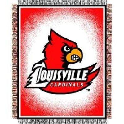 Northwest Louisville Cardinals Triple Woven Decorative Throw 48x60 - Louisville Cardinals Woven Jacquard