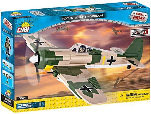 Avião Militar Focke Wulf FW-190 com 255 Peças COBI Blocos de Montar Verde