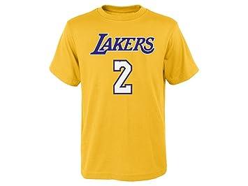 Lonzo de los Angeles Lakers # 2 NBA juventud oro reproductor nombre y número camiseta, Dorado: Amazon.es: Deportes y aire libre