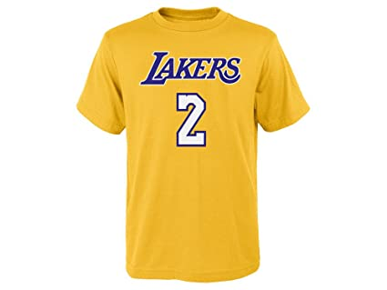 Outerstuff Lonzo Ball Los Angeles Lakers  2 NBA Youth Gold Player Name    Number T 99e0375ea