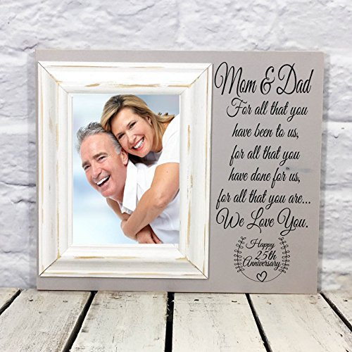 25th Anniversary Gift for Parents Picture Frame on (25th Anniversary Design Photo Frames)