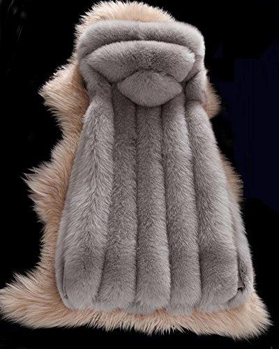 Vest Manteau Coat san Femmme Gilet Manches LaoZan Long 1qUwEPAx