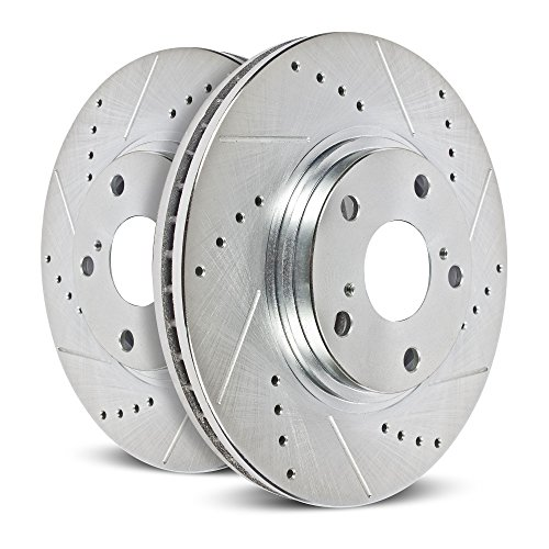 Power Stop EBR1284XPR Rear Evolution Drilled and Slotted Rotor (Power Slot Rear Rotors)