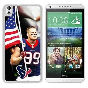 Hot Sale HTC Desire 816 Case ,Houston Texans JJ Watt White HTC Desire 816 Cover Case Unique Popular Designed Phone Case