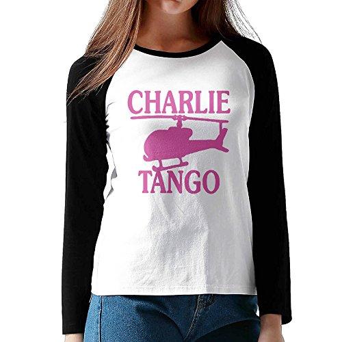 50 Shades Of Grey Charlie Tango Black Womens Game Contrast Tee Shirt