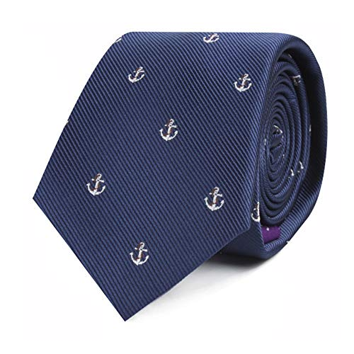 Sailor Anchor Neckties for Him | Sailing Yacht Race Tie | Boat Boating Sail Gift for Him | Yachting | Work Ties for Him | Bday Gift for Guys (Sailor - Anchor Sailor