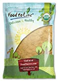 Food to Live Certified Organic Maca Root Powder (Non-GMO, Kosher, Raw Ground Maca Root, Flour, Bulk) (16 Pounds)